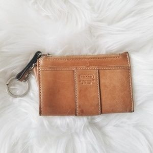 Coach | Tan Leather Key Ring Wallet